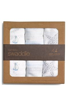 Free shipping and returns on aden + anais 'Sail Away' Swaddling Cloths (3-Pack) (Nordstrom Exclusive) at Nordstrom.com. Breathable swaddling cloths feature a light, open weave that allows a baby's body temperature to regulate itself naturally. Sweet sketches pattern the cloths, which are also handy for nursing, stroller covers or as portable crib sheets.