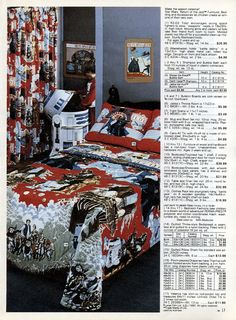 Even though I am a girl this would have been my dream bedroom in the 1980s (with Mark Hamill).