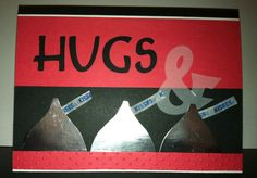 Valentines Day card...hugs and kisses! Kisses concept from stampingwithdonna.com