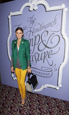 blazer, green, yellow
