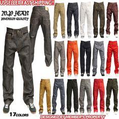 MEN MEMBERS PROPERTY RAW DENIM BLACK JEAN RELAXED LOOSE FIT  PANTS