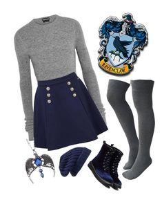 """Ravenclaw"" by closhadow ❤ liked on Polyvore featuring Tom Ford, Tommy Hilfiger and Hinge"