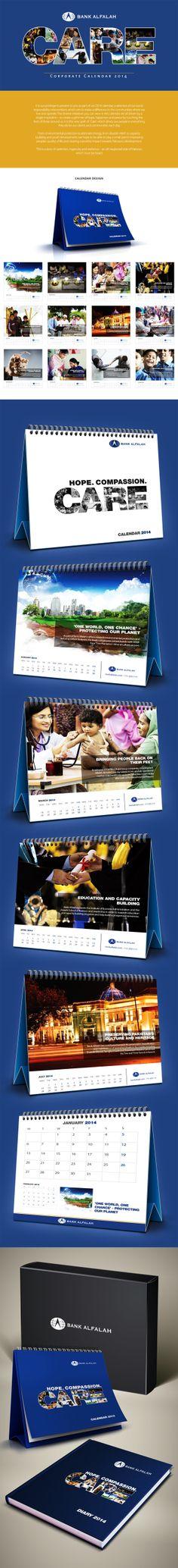Alfalah Corporate Calendar 2014 by Muhammad Moazzam, via Behance