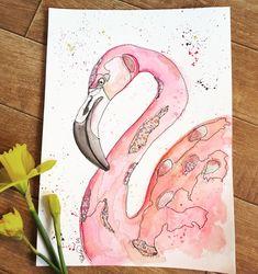 Mixed media #flamingo wall art.
