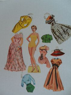 1960s paper dolls  vintage paper dolls  Mad Men women by GTDesigns, $5.00