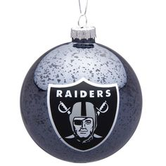 Oakland Raiders Mercury Glass Ornament - $6.39