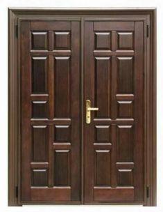 15 Main Entrance Door Design Ideas - The Wonder Cottage Main Entrance Door Design, Wooden Front Door Design, Double Door Design, Entrance Doors, Entrance Ideas, House Entrance, Door Ideas, Modern Entrance, Home Door Design