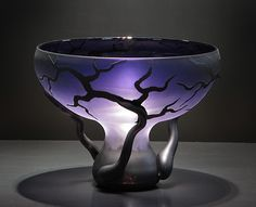 """""""Chalice Root Vessel"""" in 'Amethyst' from the """"Tree and Root Series"""" by Bernard Katz (© 2012)"""