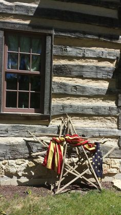 Dynamic americana country home decor Going Here American Decor, American Flag, American Independence, Fourth Of July Decor, 4th Of July, Cabins And Cottages, Log Cabins, Home Of The Brave, Let Freedom Ring