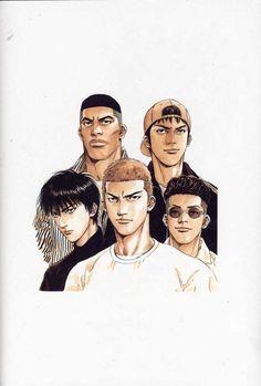 Slam Dunk by Johanna The Mad Manga Anime, Comic Manga, Anime Comics, Anime Guys, Anime Art, Manga Drawing, Manga Art, Slam Dunk Manga, Inoue Takehiko