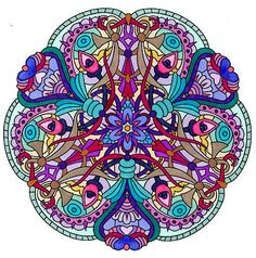 Colorful Mandala. Colouring page for relaxation and fun.