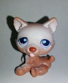 Littlest Pet Shop Dog Brown Husky Purple Eyes #38 Preowned LPS in Toys & Hobbies, Preschool Toys & Pretend Play, Littlest Pet Shop | eBay