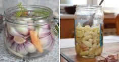 Syrop z czosnku działa 10 razy mocniej niż antybiotyk! Zrobisz go w domu | 5 Minut dla Zdrowia Cold Home Remedies, Polish Recipes, Taste Of Home, Tzatziki, Better Life, Pickles, Cucumber, Mason Jars, Vegetables