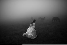 """alessioalbi: """" Fade away da Alessio Albi """" What an amazing mysterious scenery. The woman in the white dress (which lets her look so innocent) who flees from something. Dark Photography, Abstract Photography, Artistic Photography, Portrait Photography, Photography Business, Sadness Photography, Minimalist Photography, Photography Lessons, Jeter Un Sort"""