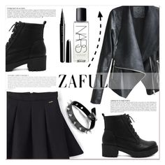 """""""www.zaful.com/?lkid=7011"""" by lucky-1990 ❤ liked on Polyvore featuring Anja, Marc Jacobs, NARS Cosmetics, Black Rivet and zaful"""