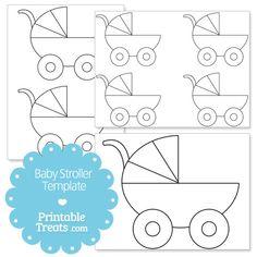 Printable Baby Stroller Template