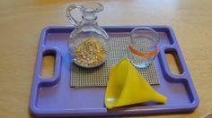 Olives and Pickles: Montessori Activities Montessori Trays, Montessori Classroom, Montessori Toddler, Montessori Materials, Toddler Learning Activities, Montessori Activities, Educational Activities, Preschool At Home, Preschool Ideas