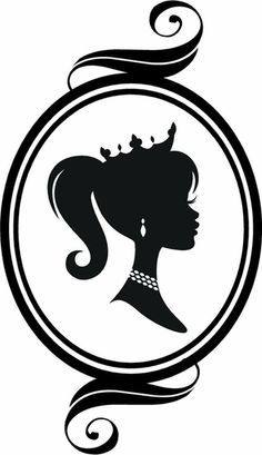 """Cameo Princess Silhouette"" a Vinyl Wall Decal Graphic by VinylDesignsByCJ, via Etsy. Silhouette Vinyl, Silhouette Portrait, Silhouette Cameo Projects, Girl Silhouette, Disney Poster, Princess Silhouette, Barbie Party, Digi Stamps, Silhouettes"