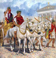 """Triumph of Caesar in Rome"", Peter Connolly"