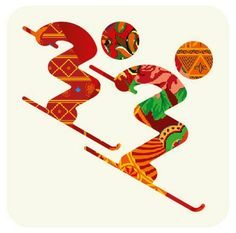 A Colorful Patchwork: The Sochi 2014 Winter Games Pictograms Winter Olympic Games, Winter Games, Winter Olympics, Olympic Idea, Freestyle Skiing, National Art, Thinking Day, Sports Art, Elements Of Art