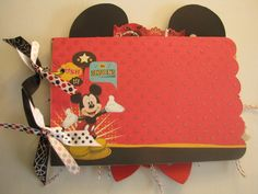 Mickey Mouse-Disney Album    Looking for a special Disney Scrapbook-Journal- Autograph Book- I can make it!! Contact me    This listing is for A Minnie and Mickey Mouse Mini Memories Scrapbooking - Autograph Album-    Ready for you to add all your Disney Memories- Mickey Birthday Party and Pictures    I will be happy to personalize with a name on this album- just include    the name when checking out....thanks    Come over to Scrap Pantry on Zibbet and check all of my Disney Albums out!