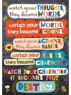 Scholastic Classroom Resources Watch Your Thoughts POP Chart Encourage your students to think, dream, and do their best with these inspirational POP! Charts measure 13 x Quotes For Students, Quotes For Kids, Me Quotes, Motivational Quotes, Inspirational Quotes, Sport Quotes, Faith Quotes, Wisdom Quotes, Book Quotes
