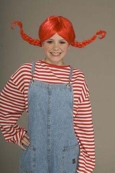 Pippi Longstocking Red Costume Wig *New* Red Costume, Costume Wigs, Costume  Dress