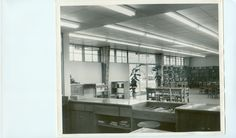 Coffee County Lannom Memorial Library interior in the 1960s.