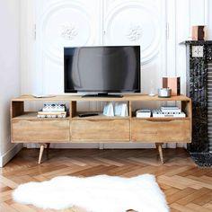 Mango wood vintage TV unit W 165cm | Maisons du Monde