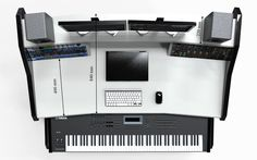 Get the Best Music Production Desks at StudioDesk.Our Workstation Furniture is the best studio furniture for home and professional use. Studio Desk Music, Music Desk, Home Studio Setup, Studio Ideas, Studio Furniture, Furniture Ideas, Custom Desk, Work Station Desk, Acoustic Panels