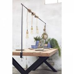 Tafelklem Zwart Decoration Table, New Product, Wardrobe Rack, Sweet Home, Shabby Chic, Ceiling Lights, Outdoor Furniture, Interior, Ideas Para