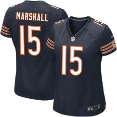 $79.99 Women's Nike Chicago Bears #15 Brandon Marshall Limited Team Color Blue Jersey