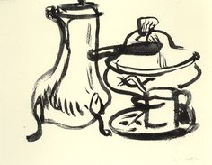 Matisse, brush and ink on paper 19.5 x 23 cm. Musee Matisse