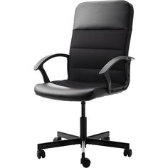 IKEA FINGAL Swivel chair, black ($40) via Polyvore featuring home, furniture, chairs, office chairs, ikea, chair, black furniture, swivel chairs, adjustable office chair и swivel furniture