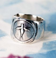 Bird Stamp ring from Anne Arden McDonald.