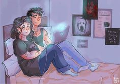 Drusilla Blackthorn and Jaime Rosales watching horror movies Livros Cassandra Clare, Cassandra Clare Books, Emma Carstairs, Jace Wayland, Lord Of Shadows, Lady Midnight, The Dark Artifices, The Infernal Devices, The Fault In Our Stars