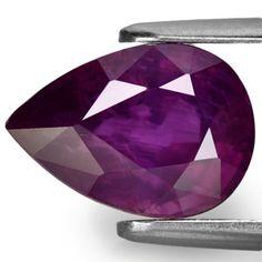 4.37-Carat Lively Eye-Clean Deep Purple Sapphire (Unheated)