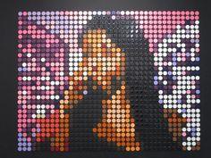 Nabila made with pot of paints' tops - Speedy Graphito - Galerie Polaris Superhero Logos, Paris, Painting, Tops, Montmartre Paris, Painting Art, Paris France, Paintings, Painted Canvas