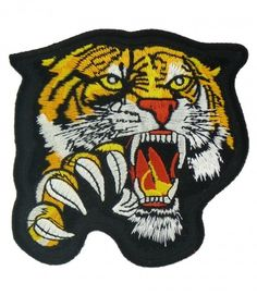 Tiger Patches & Wild Cat Patches | Iron On Animals, Sew On Animals ...