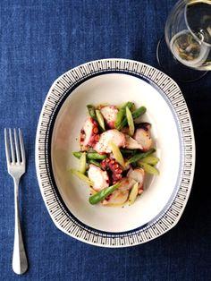 しっとりとした食感のたこと歯触りが楽しい野菜の、おいしいマリアージュを楽しんで。|『ELLE a table』はおしゃれで簡単なレシピが満載!