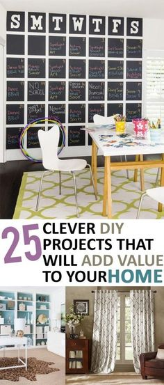 25 Clever DIY Projects that Will Add Value to Your Home- great home improvement projects that will make a huge difference in your home
