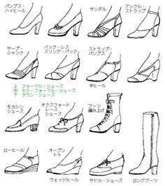 kinds o shoes Figure Reference, Body Reference, Art Reference Poses, Design Reference, Drawing Reference, Fashion Design Drawings, Fashion Sketches, Drawing Skills, Drawing Tips