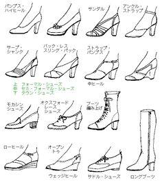 女性の靴の名称 https://twitter.com/yakudachi_img/status/716013777972494336