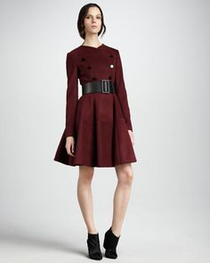 Fit-and-Flare Coat by Robert Rodriguez at Neiman Marcus.