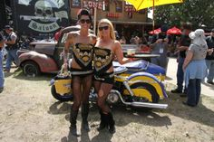 Biker rally girls get shaved