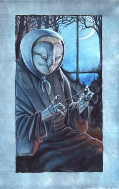 The Old Owl Woman by `hibbary on deviantART