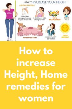 How to increase height for women, top 5 home remedies, doctors' advice, over the counter medicines available, relevant videos and other useful info. Health Remedies, Home Remedies, Hormone Supplements, Sleep Drink, Height Growth, Increase Height, Care Logo, Growth Hormone, How To Grow Taller