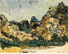 「サン・レミの山」 1889  71.8 x 90.8 cm  グッゲンハイム美術館  ニューヨーク