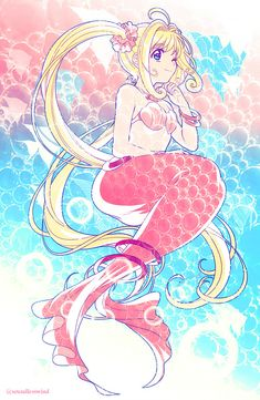 Mediaholic — Old doodle from M Anime, Chica Anime Manga, Anime Chibi, Anime Art, Anime Mermaid, Mermaid Art, Kawaii Art, Kawaii Anime, Mermaid Melody