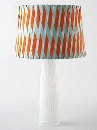 Criss Cross Lampshade DIY: Fun to make with woven satin ribbons.